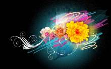 Flower Vector Designs 1080p - Full HD Wallpaper
