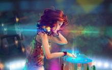 The girl Dj - Full HD Wallpaper