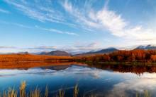 Clouds Autumn Reflection - Full HD Wallpaper