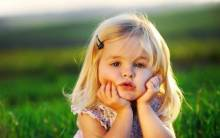 Cute Little Baby Girl - Full HD Wallpaper
