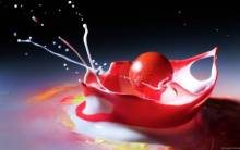 Cherry Splash - Full HD Wallpaper